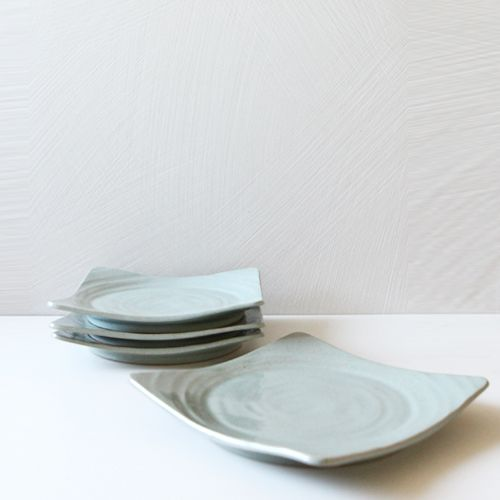 Casual line Wormwood Round Square Plate 23, set of 4 / $98.00