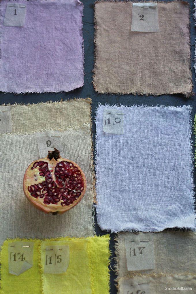 Teñir telas con frutas, verduras y especias