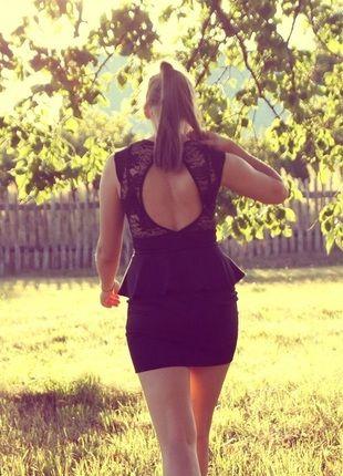 Kup mój przedmiot na #vintedpl http://www.vinted.pl/damska-odziez/krotkie-sukienki/11563761-czarna-sukienka-z-baskinka
