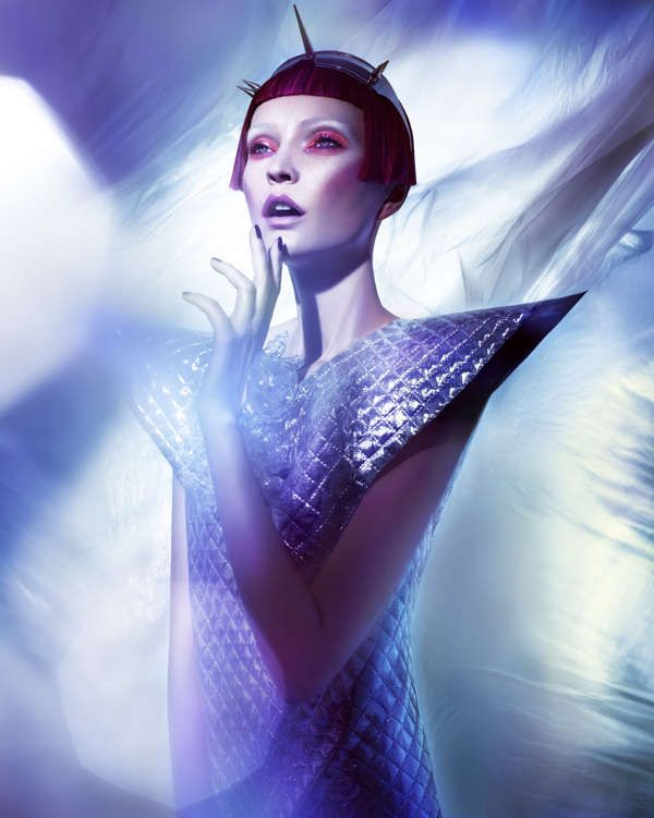 Futuristically Textured Fashion - The 74 Magazine 'HOKKUS POKUS' Editorial is Vibrantly Dark (GALLERY)