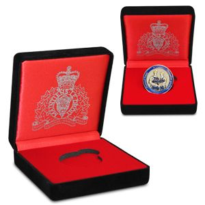 $11.99 Single Coin Box: Proudly display an RCMP coin in this custom designed Single Coin Box. Featuring a black velvet exterior, a satin interior and a foil stamped RCMP crest on the front of the coin box, this item will make for the perfect gift to give the novice coin collector.