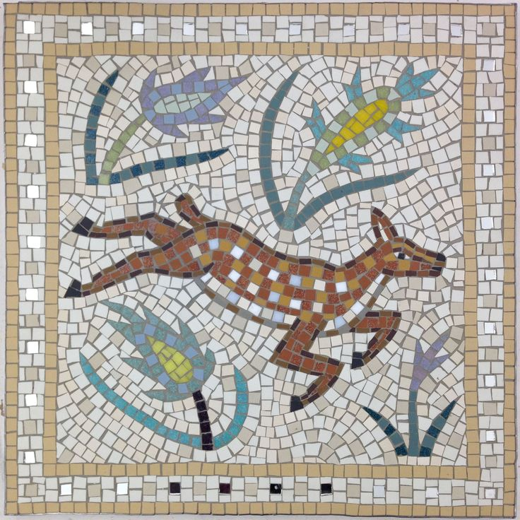 mosaic deer sample for london zoo mosaic