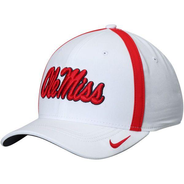Ole Miss Rebels Nike 2017 AeroBill Sideline Swoosh Coaches Performance Flex Hat - White - $31.99