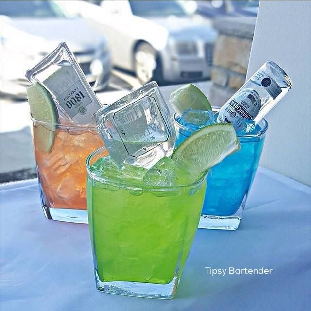 Los Tres Amigos Cocktails - For more delicious recipes and drinks, visit us here: www.tipsybartender.com