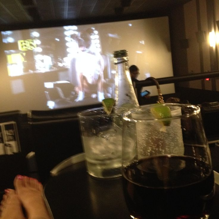 Cineplex VIP with alcohol, dinner, dessert and popcorn.