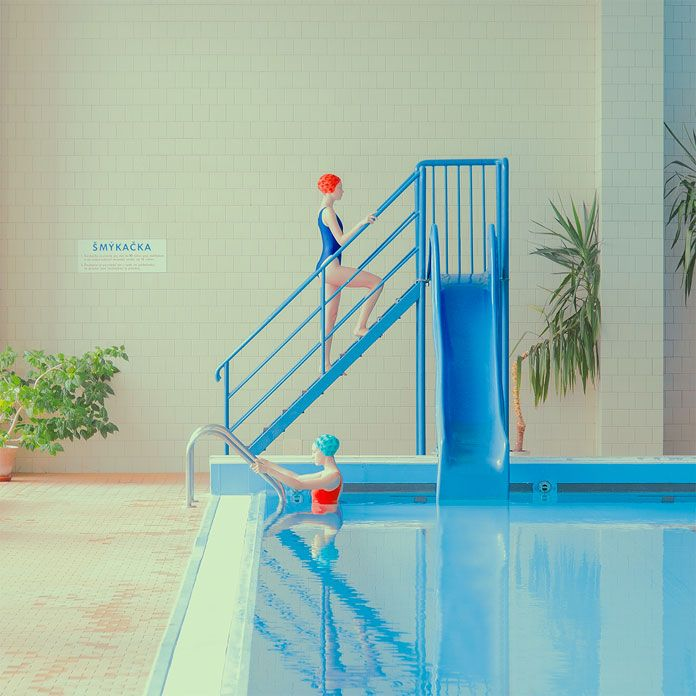 'No Diving', a new set of Maria Svarbova's 1970s inspired Swimming Pool series. I'm pretty sure you remember our first feature of Maria Svarbova's 'Swimmin
