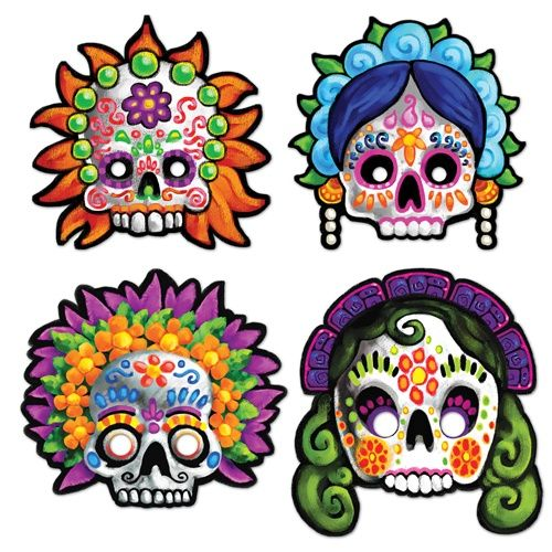 More Masks for Day of the Dead Party