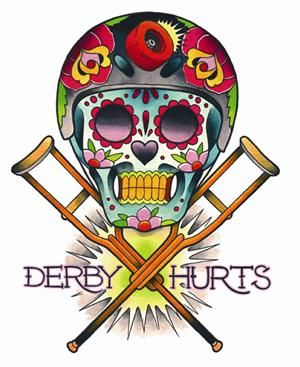 Derby Hurts, great tattoo design for a roller Derby gal