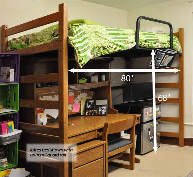 Dorm Loft Bed Dimensions Woodworking Projects Amp Plans