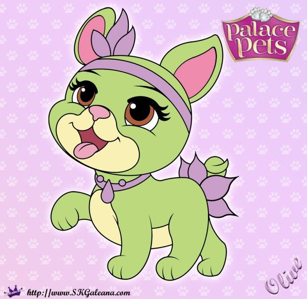Free Princess Palace Pets Coloring Page of Olive