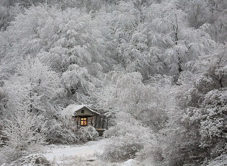 AD-solitaria-Little-Casas-lost-in-Majestic-Invierno-Paisaje-01