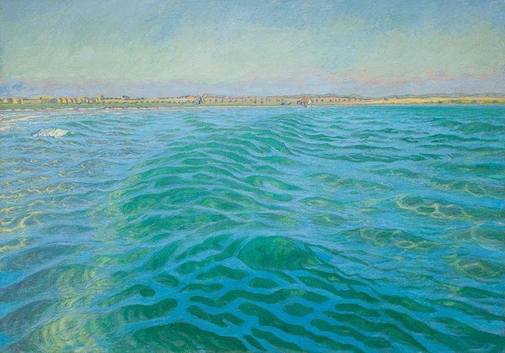 Wave, Kerteminde Bay by Johannes Larsen, 1948
