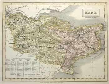 8 best antique maps of kent images on pinterest antique maps old antique maps uk england kent map by chapman hall ref 1000309 publicscrutiny Image collections
