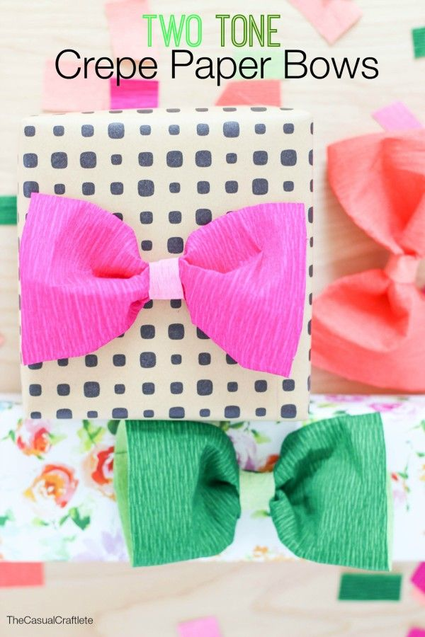 Two Tone Crepe Paper Bows