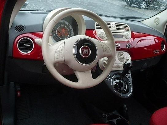 Another red Fiat, Beige wheel - Used 2013 FIAT 500 Pop Hatchback for sale in Cherry Hill, NJ 08002 - Kelley Blue Book $13,995