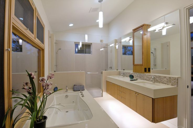 Lighted Medicine Cabinet Bathroom Contemporary with Backlighting Bathroom Mirror Bathtub Ceiling Lighting Double