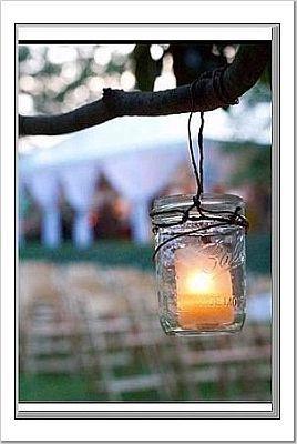 My mom has these, I love them!: Ball Jars, Ideas, Wedding, Candles Holders, Trees, Mason Jars Lanterns, Mason Jars Candles, Jars Lights, Masonjar