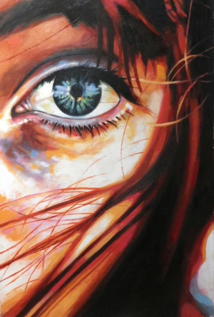 "Saatchi Art Artist Thomas Saliot; Painting, ""Close up messy red"" #art 