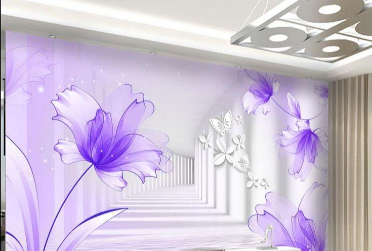 Terkeren 15 Gambar 3d Bunga Di Tembok- Lukisan Bunga 3d Di ...