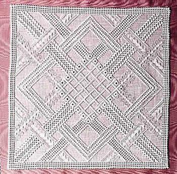 Diagonal Ribbons (Pulled Thread)
