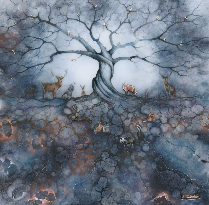 The mystical, atmospheric 'The Call of the Trees' is an astonishing new work by Kerry Darlington! Check it out here: https://wyecliffe.com/collections/kerry-darlington-art/products/call-of-the-trees-kerry-darlington