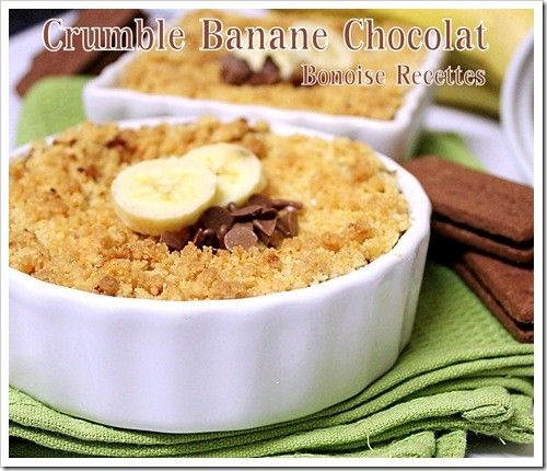 crumble chocolat banane dessert pinterest tags. Black Bedroom Furniture Sets. Home Design Ideas