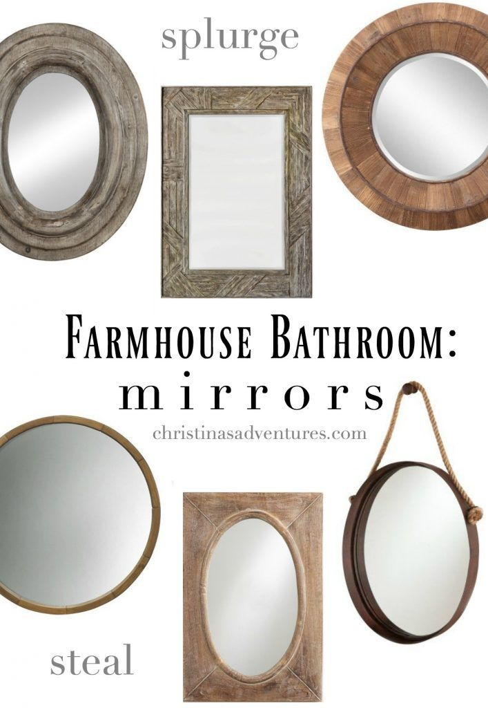 Best 25+ Farmhouse bathroom mirrors ideas on Pinterest ...