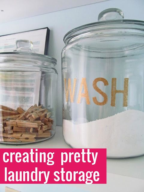 The House on Hillbrook: Creating Pretty Laundry Soap Storage