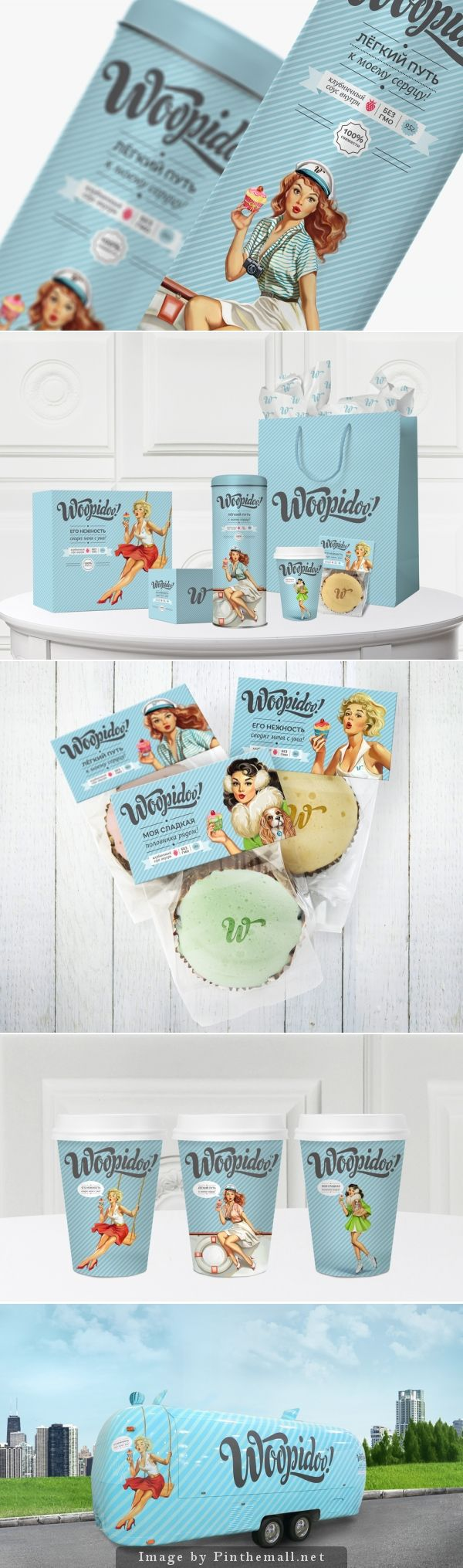 Woopidoo | combines both a modern and vintage feel to their baked goods #cakes #packaging designed by Times Branding
