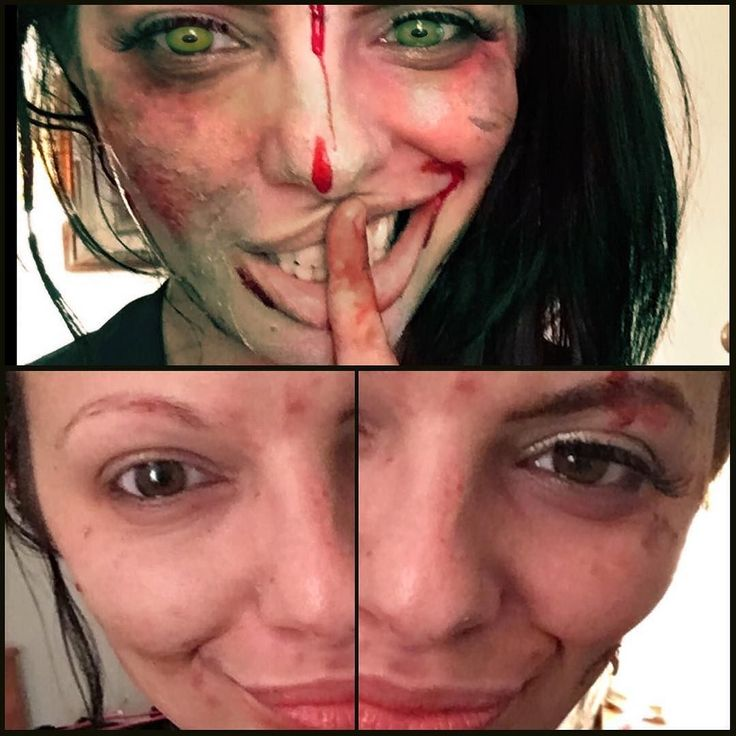 It's Halloween time AND it's #bfrbawareness #bfrbweek !!! Two of the best occasions during one amazing month.  I figured since I was playing with Halloween makeup I'd do. Trichotillomania half face. Happy week of awareness my babies #trich #trichotillomania