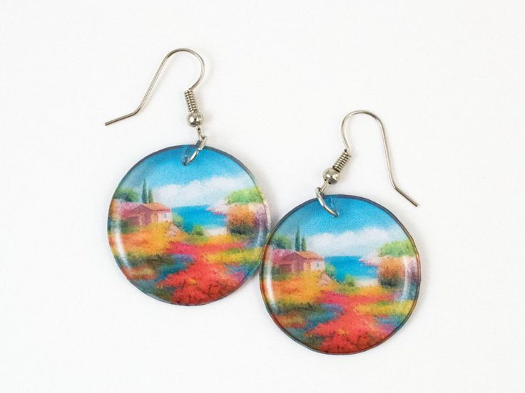 A personal favourite from my Etsy shop https://www.etsy.com/listing/271332755/round-provence-earrings-transparent