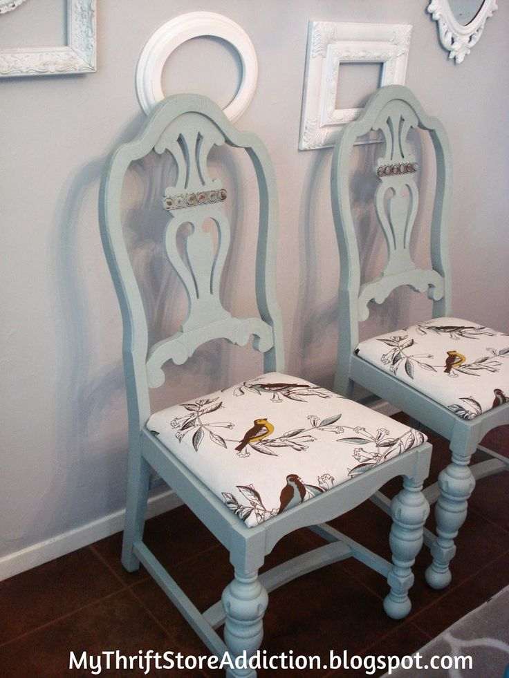 My Thrift Store Addiction : Rescued Chairs Reveal! #ThriftStoreUpcycle #DIY #FabulousFinds