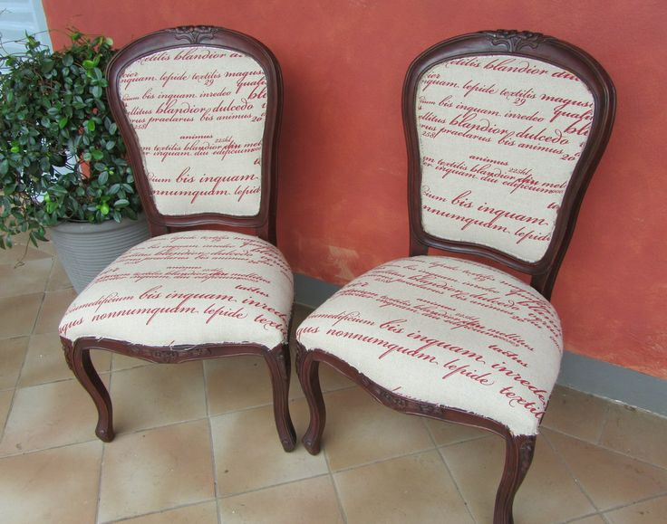 Lovely Script fabric Chairs