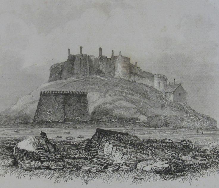 Vale Castle,1840. Drawn by Robert Mudie.