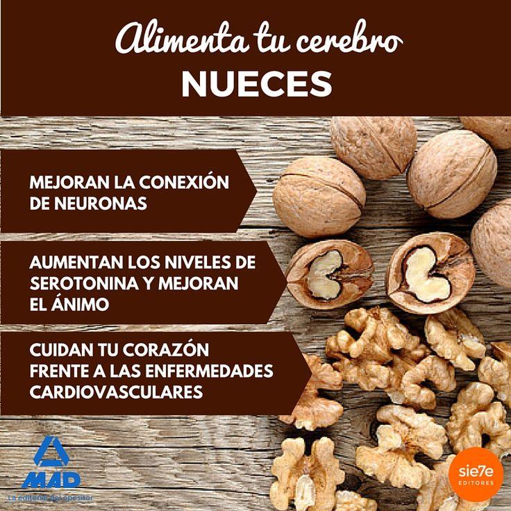 Alimenta tu cerebro, propiedades de las nueces, frutos secos, propiedades de los frutos secos. Memoria, alimentos para la memoria.