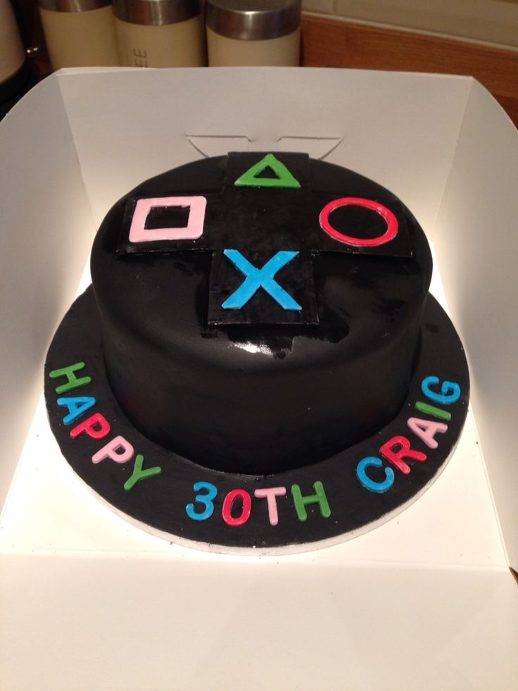 Playstation choc cake