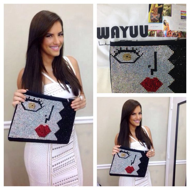 Gaby Espino, wearing Wayuulifestyle Clutch