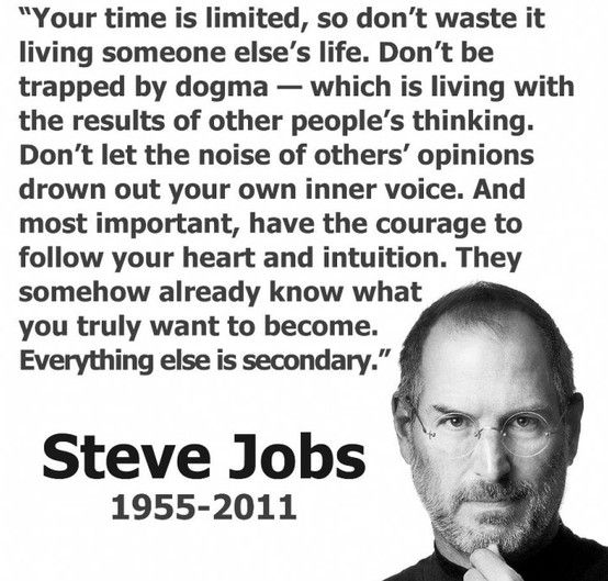 Steve Jobs Quote Your Time Is Limited Zitate