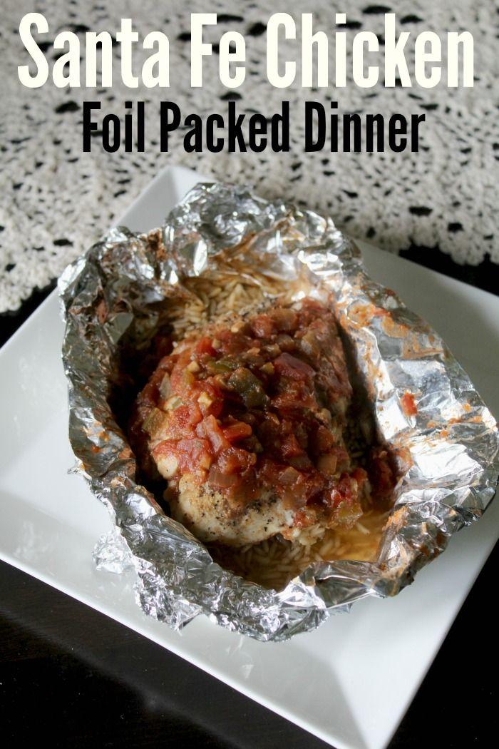 Santa Fe Chicken Foil Packed Dinner