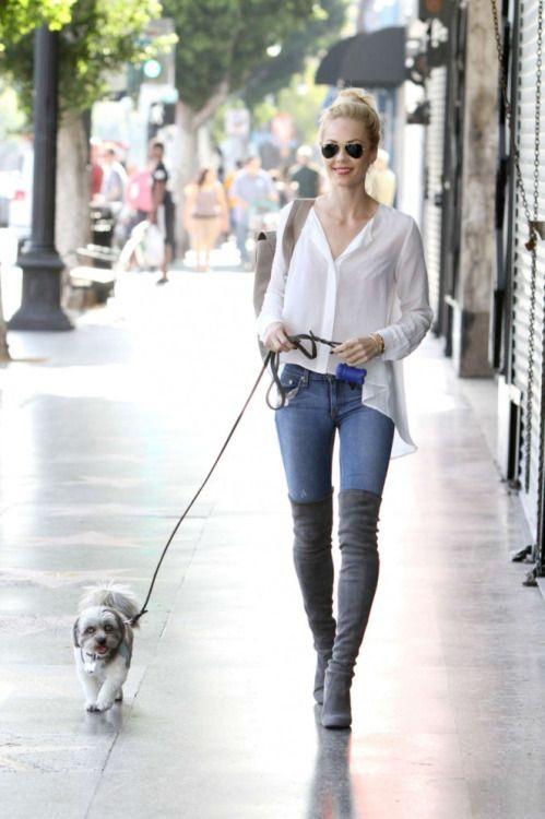 Laura Vandervoort in Jeans out in LA