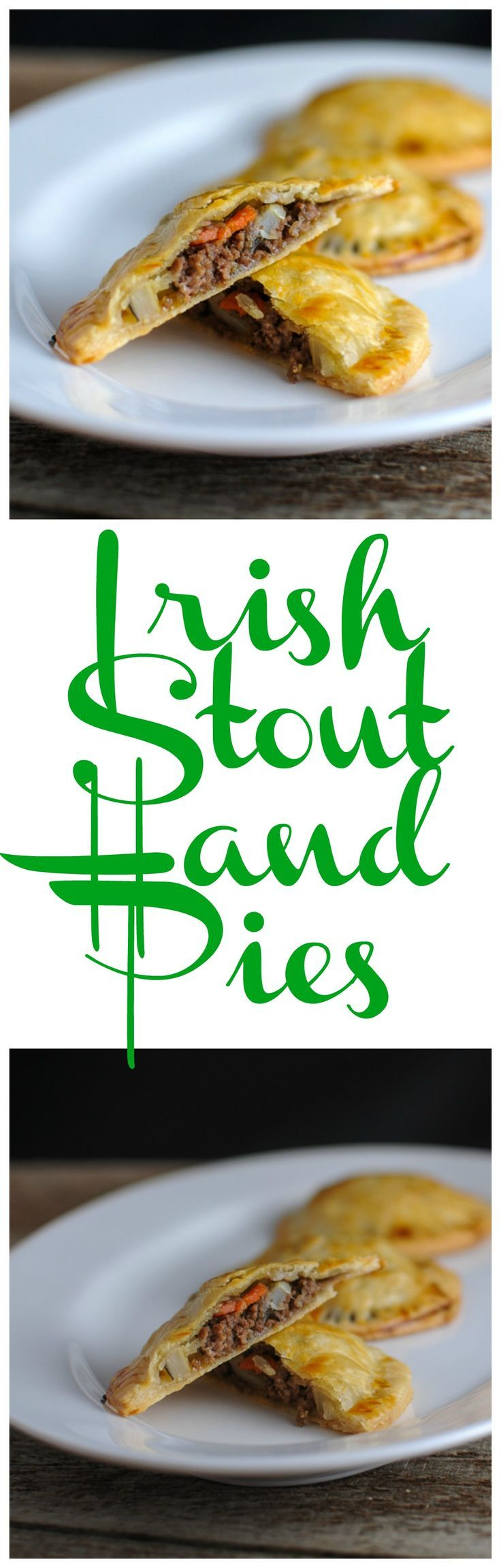Irish Stout Hand Pies - ground beef, onion, carrot, stout beer in a pastry crust!