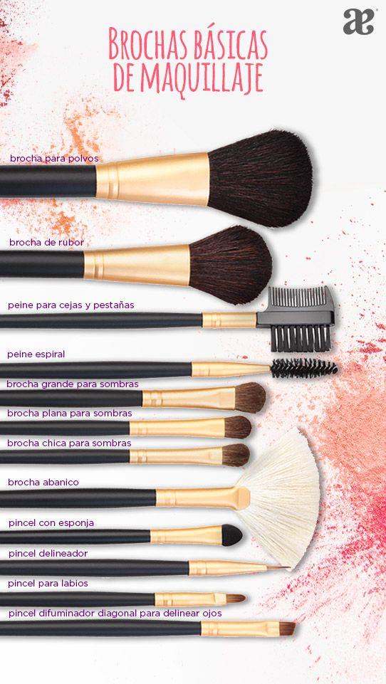 Guía de brochas y aplicadores de maquillaje #Makeup #belleza