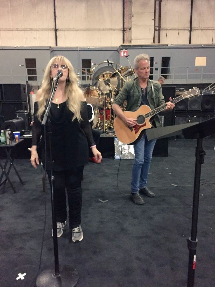 Stevie Nicks & Lindsey Buckingham from Fleetwood Mac in rehearsal July 2017 (Shared via Richard Dashut's Twitter Feed from a picture provided by Christine McVie)