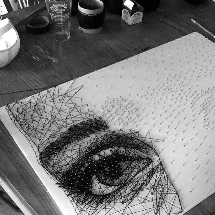 """158 curtidas, 14 comentários - Jess Reef (@artbyjessreef) no Instagram: """"#WIP of a #Lexa #StringArt for @alycianaya ✌ Today is my day off so expect another update later on."""""""