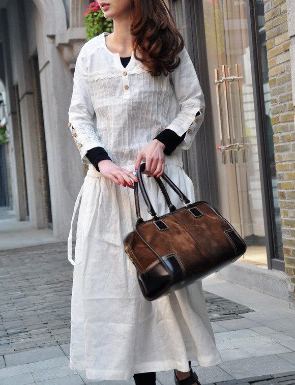 White Linen Dress / Long sleeve Maxi Dress Gown / Pleated Evening Dress. $69.00, via Etsy.: Maxi Dresses, Dresses Long, Dresses Linens, Maxi White Linens Shirts, Long Sleeve Maxi, White Linens Dresses, Linen Dresses, Lace Dresses, Dresses Gowns