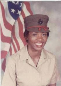 Marine Cpl Sabrina (Williams) Messenger during boot camp