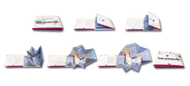 Brochure avec origami effet pop up