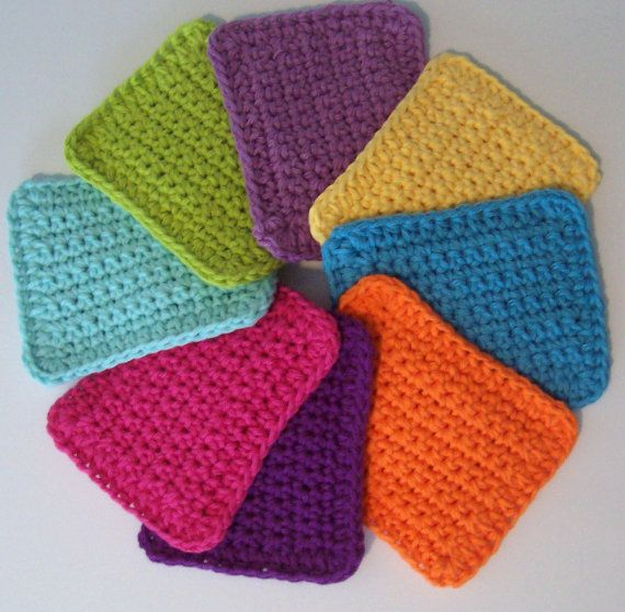 crocheted sponges..(or knitted)....