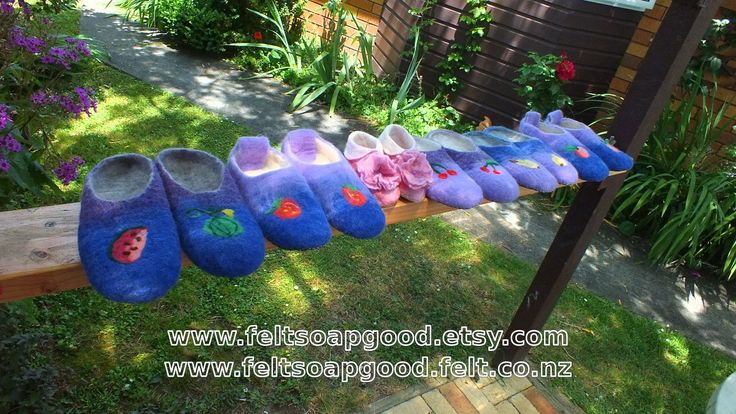 Orchard Felted slippers for family of 6
