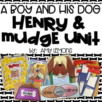 If you students enjoy Henry and Mudge as much as mine do, then this little unit will help encourage your student's love for reading!  Here's what is included in this pack:1.  Bubble Maps:  Describe the characters2.  Venn Diagram Flapbooks- compare the characters or compare Mudge to another character (3 options)3.